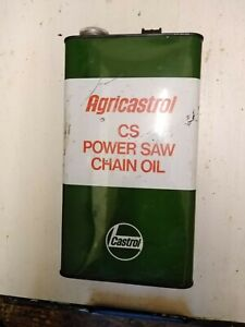 VINTAGE EMPTY ONE GALLON CASTROL AGRICASTROL CAN POWER SAW CHAIN OIL.