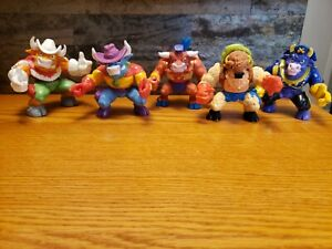 "Vintage Hasbro 1991 Lot Of Five Cowboys of Moo Mesa  5"" Action Figures"