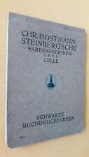 Musterbuch / Katalog Hostmann Farbenfabriken Schwarze Buchdruckfarben 1927