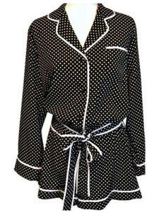 $88 kate spade  women pokadot Romper/nightgown Size large G5