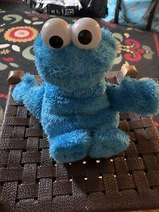 "Singing Cookie Monster Toy Soft Sesame Street 10"" Plush Working hasbro"