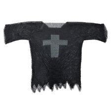 Medieval Blackened Legendary Templar Cross Chainmail Haubergeon Large