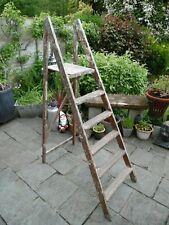 Vintage Painters Wooden Step Ladders Rustic Shop Display Wedding Prop Shelving