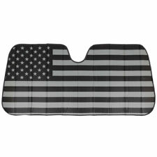 Front Window Sun Shade Auto Sedan Truck SUV Car Windshield Sunshade, Black Flag