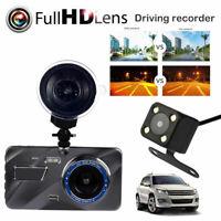 "4""1080P HD 170°Touch Screen Car DVR Dash Cam G-sensor Recorder + Rearview Camera"