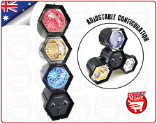 LED Hexagon Party Light w/ 47 Globe LED Lights Speed Control & Sound Activated