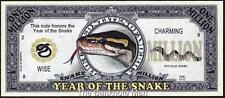 Million Note - Fantasy Money - Chinese Zodiac - Year of the Snake