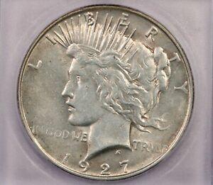 1927-D 1927 Peace Dollar S$1 ICG AU58