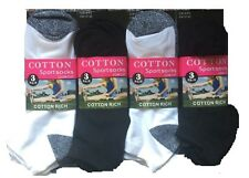 6 X New ladies trainer Summer socks Luxury Beautiful Colour Combination Size 4-7