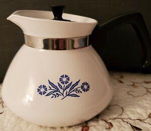 Garden of  Teapots Chelsea Blue Daisy *Rare* Vintage Corning Ware 6 Cup