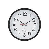 """Staples 14"""" Round Atomic Wall Clock (18383) 812291"""