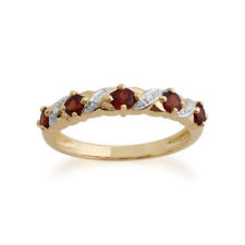 Runde Granate Echtschmuck-Ringe aus Gelbgold