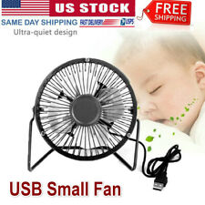 4inch Mini Desk Table Fan Personal USB Quiet Mini Portable Air Cooler Retro US