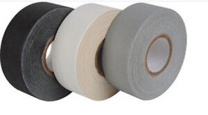 Matt Black and White Premium Weatherproof Clothing Gaffa Tape 50mm x 50m roll