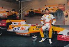 Adam Khan Hand Signed 12x8 Photo - Formula 1 Autograph Renault - F1.