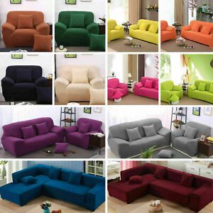 1/2/3/4 Seater Sofa Couch Covers Easy Fit Stretch Elastic Couch Slipcover UK NEW