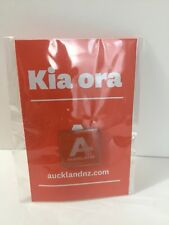 Auckland Orange Pin Badge New Zealand - Kia ora - Rare Kiwi Souvenir Collectible
