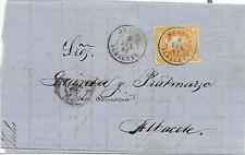 España. Carta de Hellin a albacete con sello de 4 ctos. Edifil nº 52