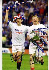 Signed Jorg Albertz Arthur Numan Glasgow Rangers Autograph Photo Ibrox Legends