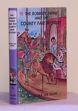 BOBBSEY TWINS #15 County Fair Mystery ~ Laura Lee Hope 1960 /printed 1980 G&D HC