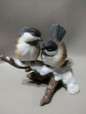 Vintage Chickadees 1991 Masterpiece Porcelain made in Mexico.