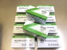 10 Pakete Nylon, 5-0, 75cm, 18mm schneidend, 12 Folien Nahtmaterial, Sutures