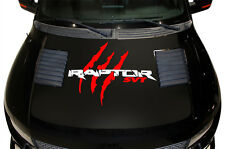 Vinyl Decal Raptor Hood Wrap for F-150 Raptor SVT 10-14 Matte Black Red Tears