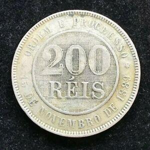 Brazil 1889 200  Reis Coin