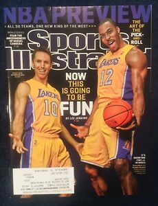 10.29.2012 STEVE NASH & DWIGHT HOWARD Sports Illustrated LOS ANGELES LAKERS