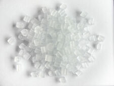 Miyuki Square Transparent Frosted Clear Seed Beads (cubes) 3.5-3.7mm  (25g)