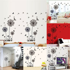 Dandelion Butterfly Mural Removable Wall Decals Stickers Room Home Decor DIY