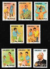 Cardinal Cardijn set of 8 mnh stamps 1983 Rwanda Sc #1150-7 Youth activities