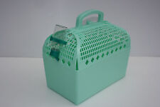 Green Pet Carrier with water bottle for a cat, small dog, guinea pig or rabbit