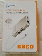 j5create USB C Multi-Adapter for Windows Laptops, MacBook, Chromebook