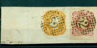 Portugal, König Nr.13 + 14 gestempelt auf Briefstück