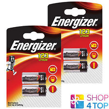 4 ENERGIZER CR123 LITHIUM BATTERIES 3V DL123A 123A EXP 2027 NEW