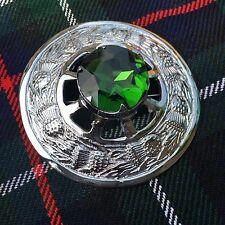 Kilt Mouche Plaid Broche Vert Pierre/écossais Broche/Broches/pins