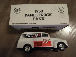 COLLECTOR 1950 DELCO #17 PANEL TRUCK BANK, ERTL!