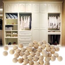 50Pcs 18mm Natural Cedar Wood Moth Balls Camphor Repellent Wardrobe Clothes