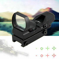 Tactical Green Red Dot Reflex Sight Holographic Scope Rifle Mount Rail 1X24X33mm