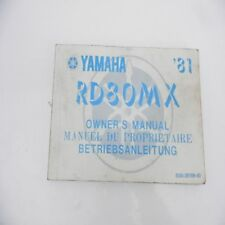 Yamaha   RD 80 MX Betriebsanleitung Handbuch Service manual Fahrerhandbuch