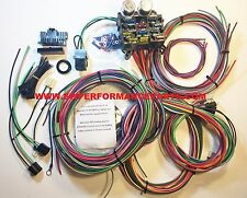 NEW 12 Circuit EZ Wiring Harness CHEVY MOPAR FORD Hotrods UNIVERSAL XL Wires!