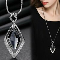Fashion Geometric Square Pendant Necklace Sweater Hollow Long Lady Jewelry Gifts