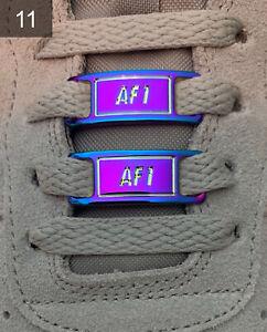 ❤️ Neue Nike Air Force 1 Schnallen Accessoires Holo Lace Locks 2 Stück✅