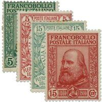 ITALIE SÉRIE N°83 À 86, EFFIGIE DE GARIBALDI, TIMBRES NEUFS*1910