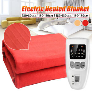 220V 4 Sizes Electric Heated Flannel Blanket 4 Gear Warm Cover Heater  ! N