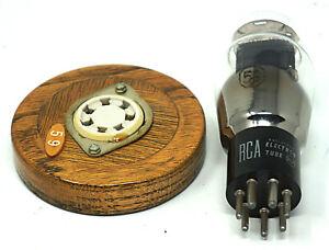RCA Radiotron Tube 59 Vacuum Tube w/ Socket and Display Base