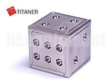 TITANER Titanium TC4 Ti Solid 25g Dice Set x2