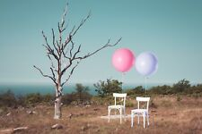 White Balloons 3ft giant round large pink balloons wedding bride engaged pack 6