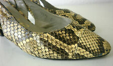 Zoila Slingpumps True Vintage snake optic Leder Damen Schuhe Pumps PARA Sandale
